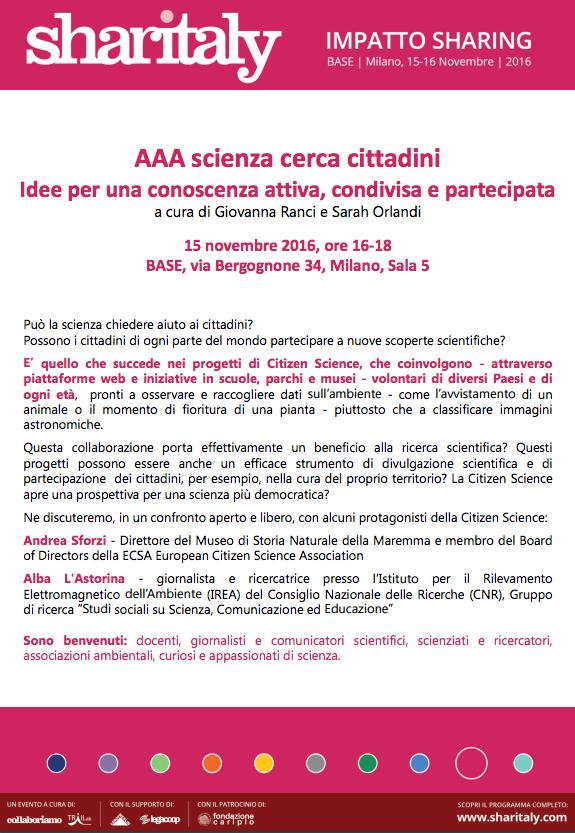 aaa scienza dei cittadini