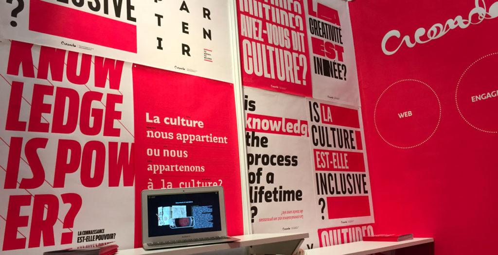 Creando cultura lo stand della fiera di parigi